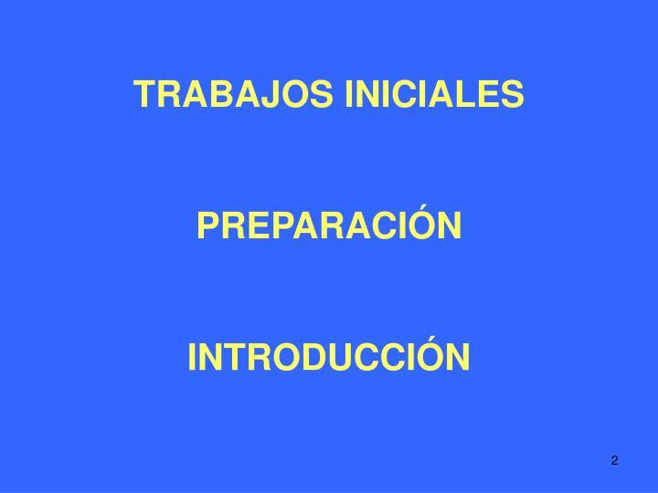 TRABAJOS INICIALES