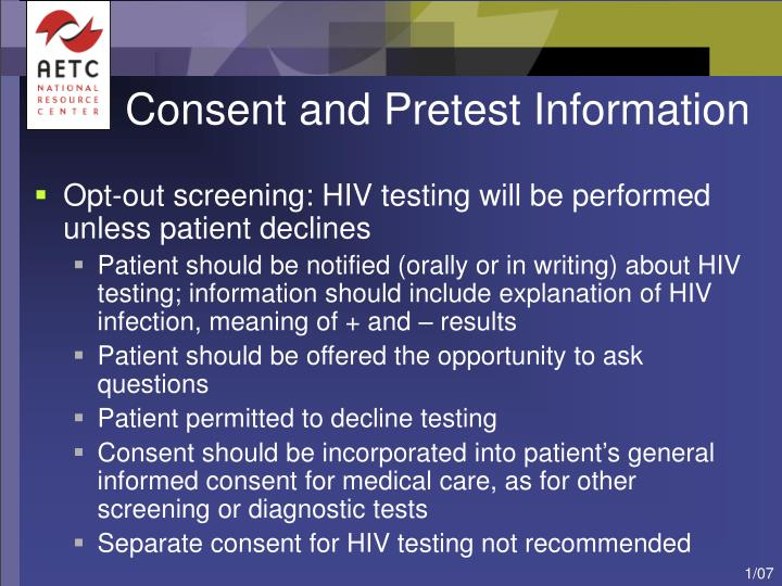 Consent and Pretest Information