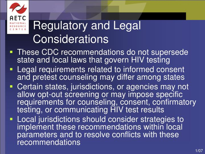 Regulatory and Legal Considerations