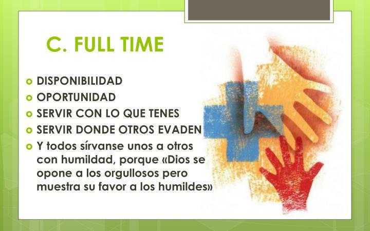 C. FULL TIME