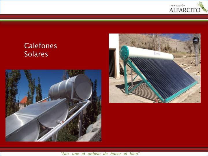 Calefones Solares