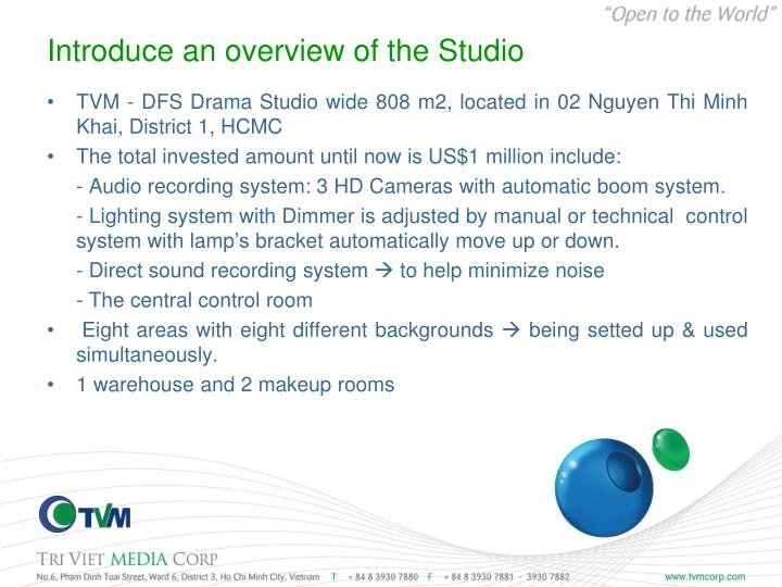 Introduce an overview of the Studio