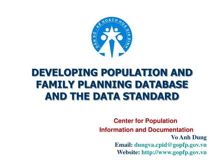 DEVELOPING POPULATION AND