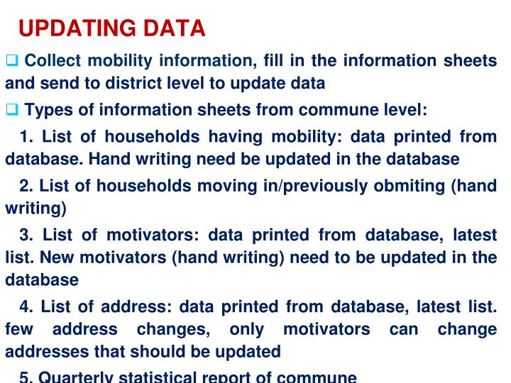UPDATING DATA