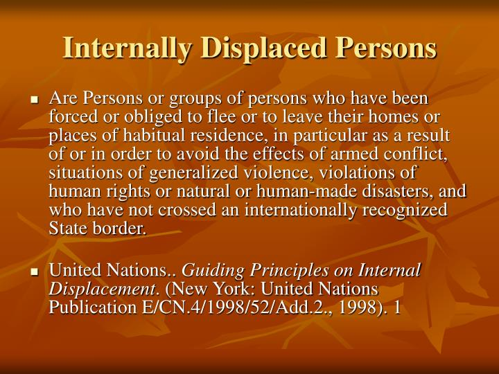 PPT - Refugees and Internally Displaced Persons PowerPoint ...