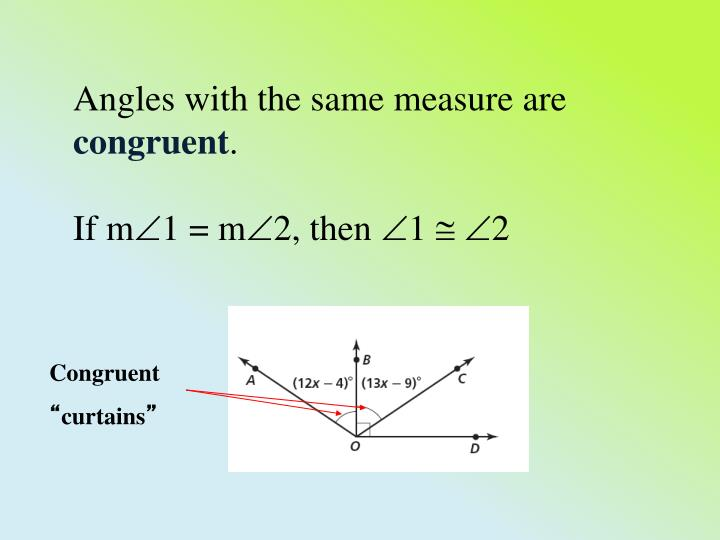Angles with the same measure are