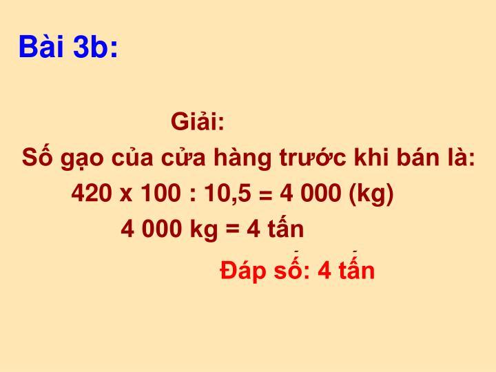 Bài 3b: