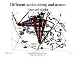 different scales along and across line of sight