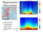 magnetometer observations