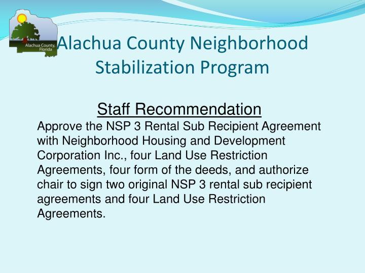 Alachua County Neighborhood Stabilization Program