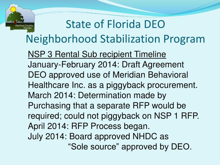 State of Florida DEO