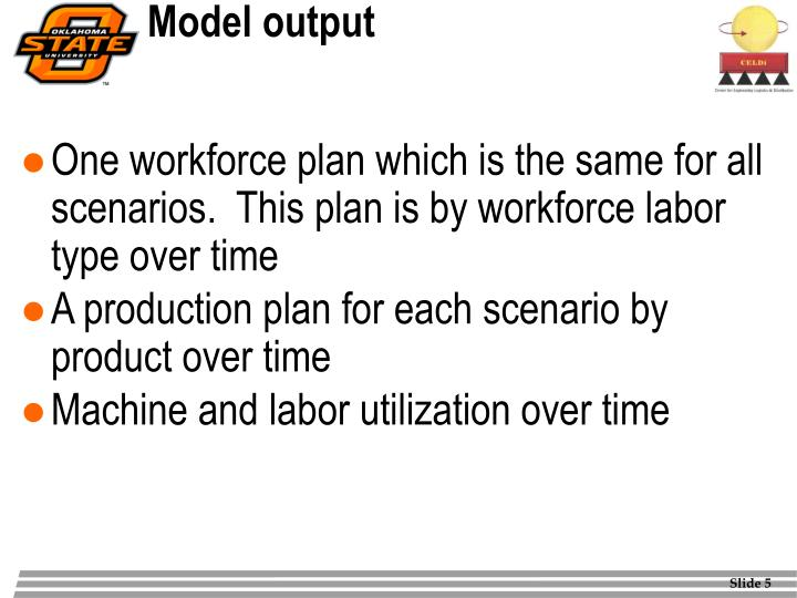 Model output