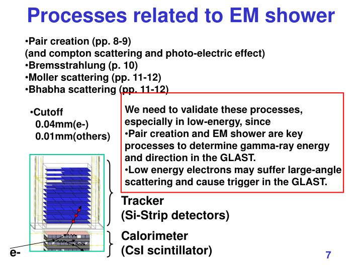 Processes related to EM shower