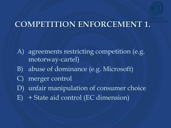 COMPETITION ENFORCEMENT 1.