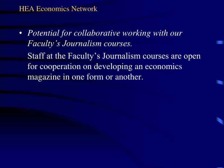 HEA Economics Network