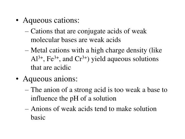 Aqueous cations: