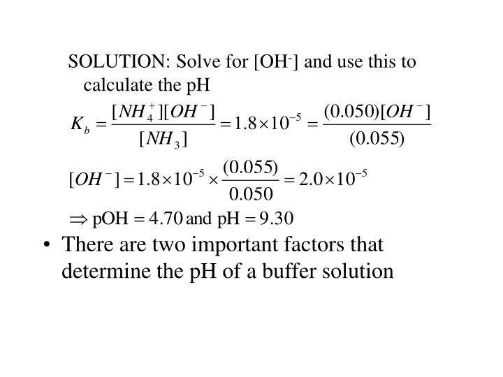 SOLUTION: Solve for [OH