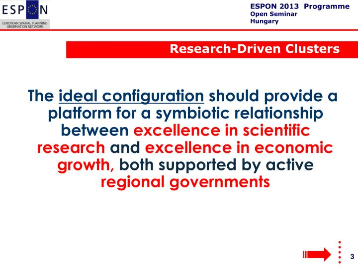 Research-Driven Clusters