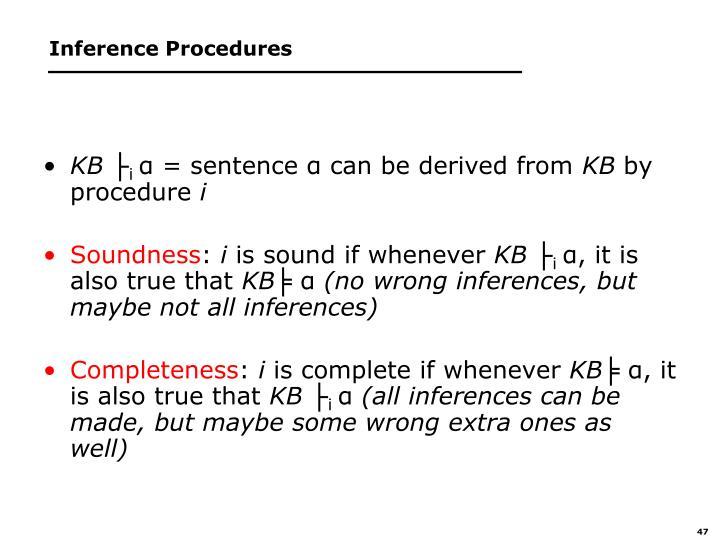 Inference Procedures