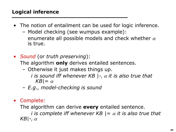 Logical inference