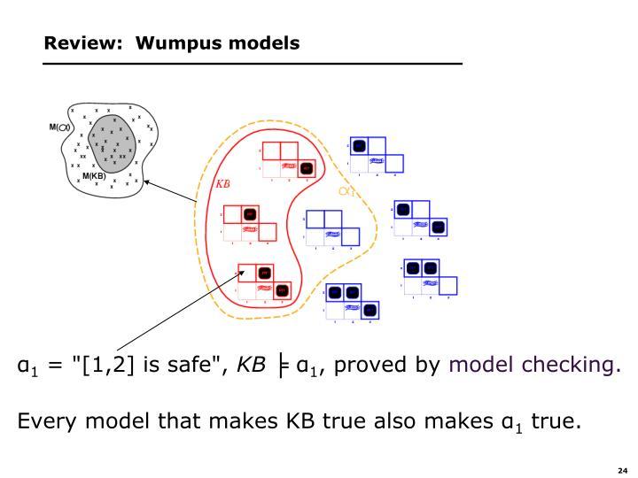 Review:  Wumpus models