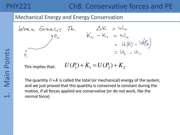 Phy221 ch8 conservative forces and pe2