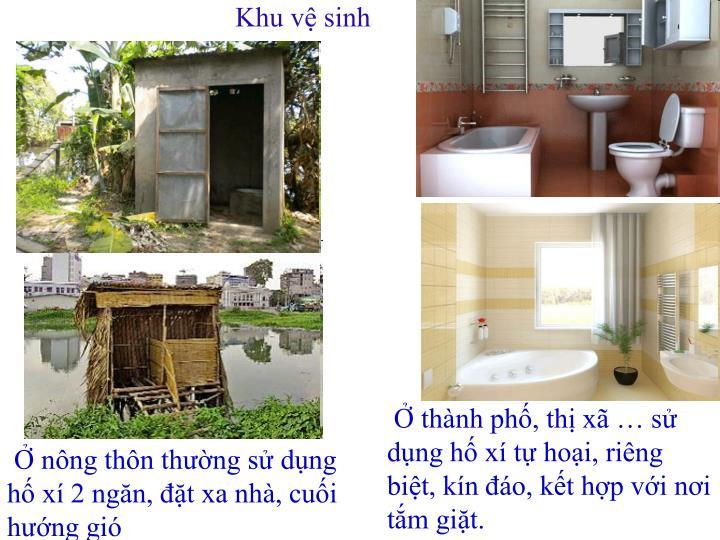 Khu vệ sinh
