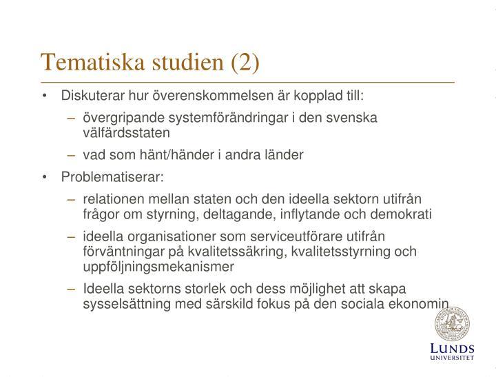 Tematiska studien (2)