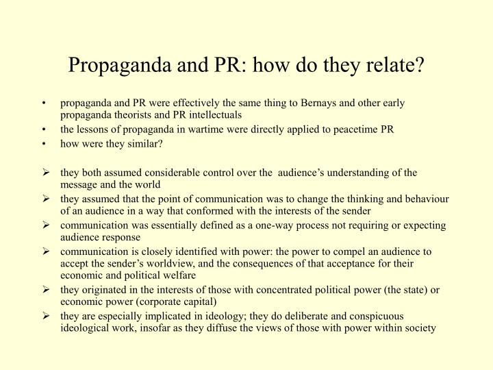 Propaganda and PR: how do they relate?