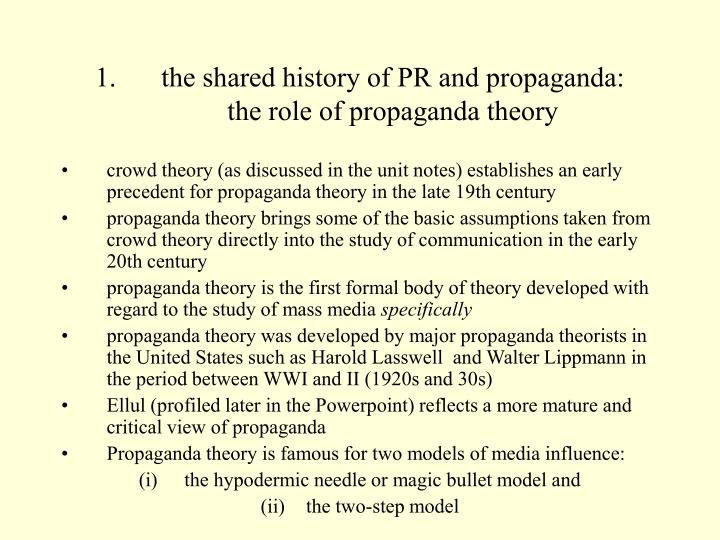 the shared history of PR and propaganda: