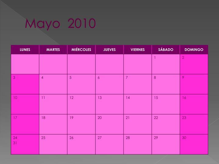 Mayo  2010