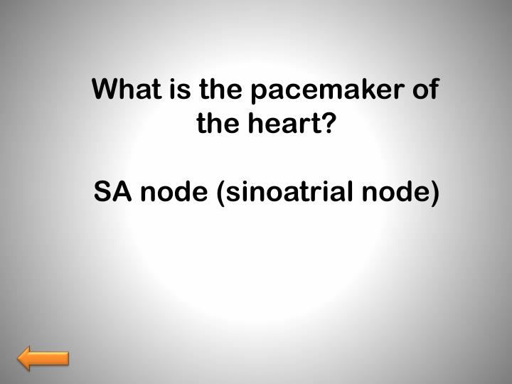 What is the pacemaker of the heart?