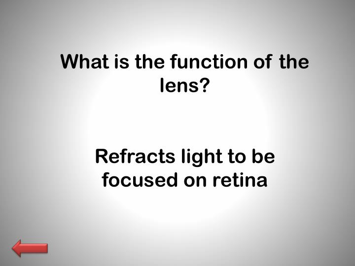 What is the function of the lens?