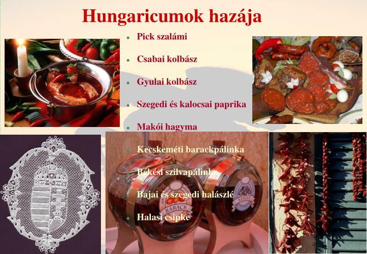 Hungaricumok hazája