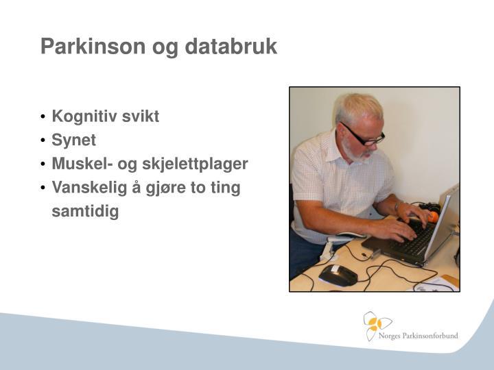 Parkinson og databruk