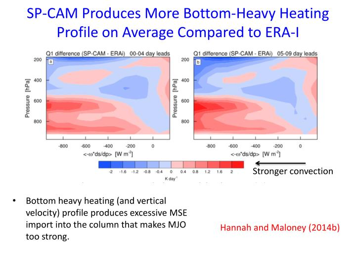 SP-CAM Produces More Bottom-Heavy Heating Profile on Average Compared to ERA-I
