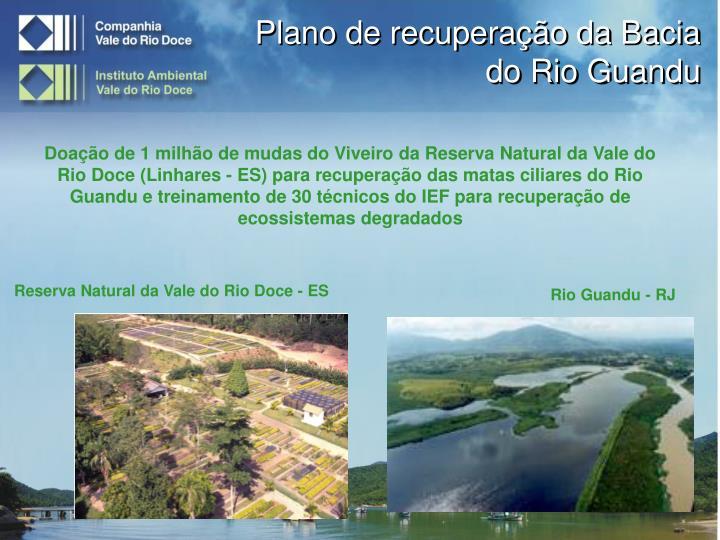Plano de recuperação da Bacia do Rio Guandu