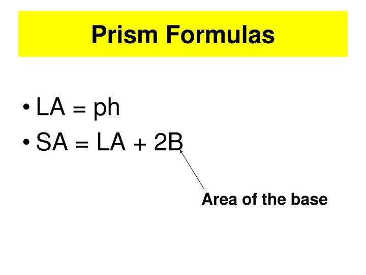 Prism Formulas
