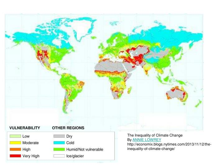 The Inequality of Climate Change
