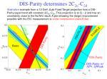 dis parity determines 2c 2u c 2d