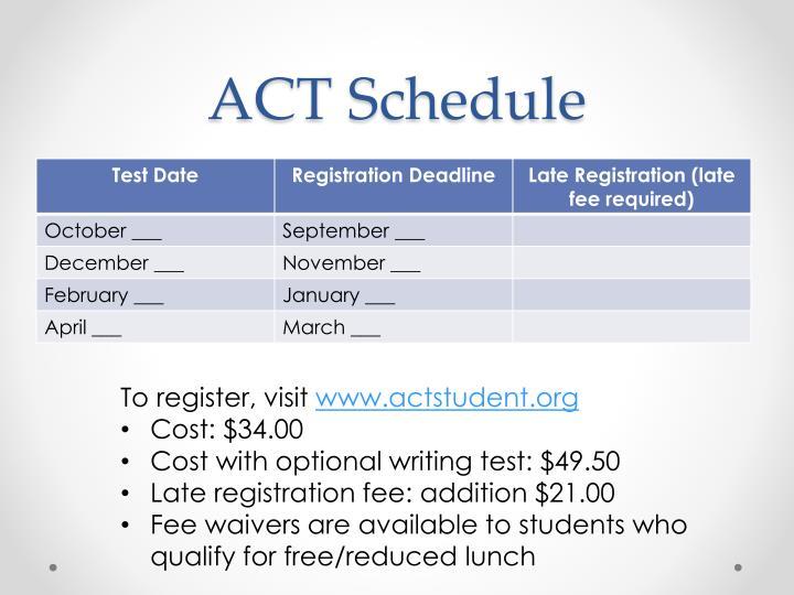 ACT Schedule