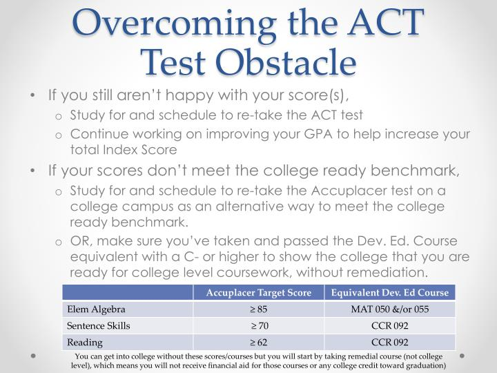 Overcoming the ACT