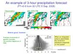 an example of 3 hour precipitation forecast ft 6 9 from 00 utc 6 sep 2006
