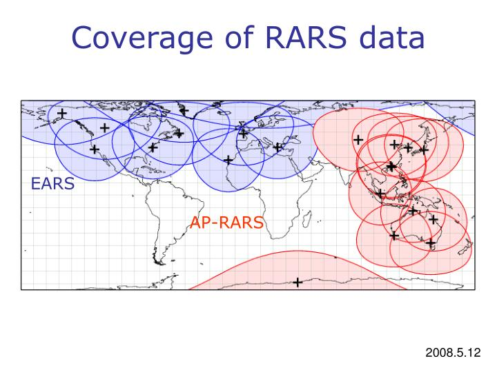 Coverage of RARS data