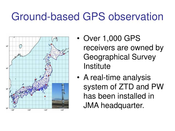 Ground-based GPS observation