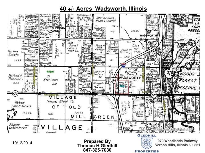 40 +/- Acres  Wadsworth, Illinois