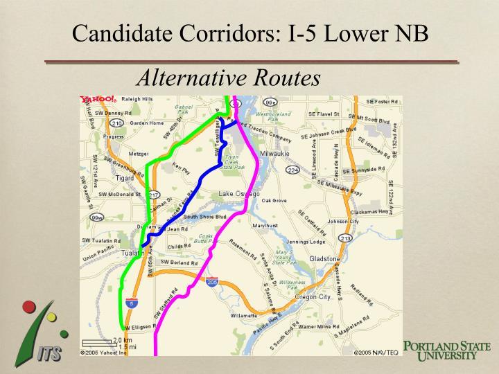 Candidate Corridors: I-5 Lower NB