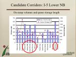 candidate corridors i 5 lower nb5