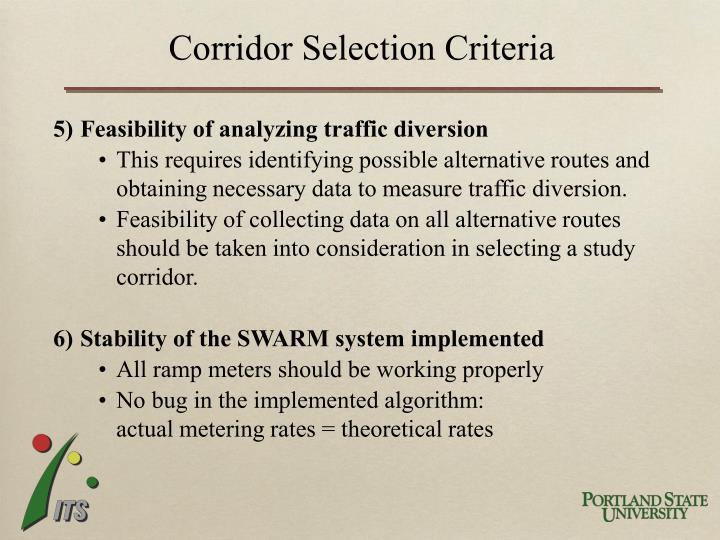Corridor Selection Criteria