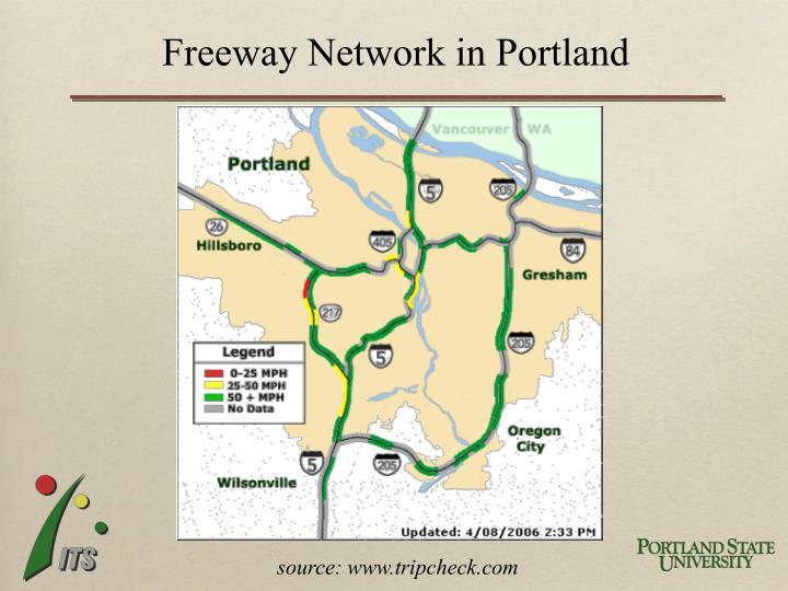 Freeway Network in Portland